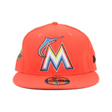 Little Haiti NEW ERA 59/50 Fitted Cap (Tangerine)
