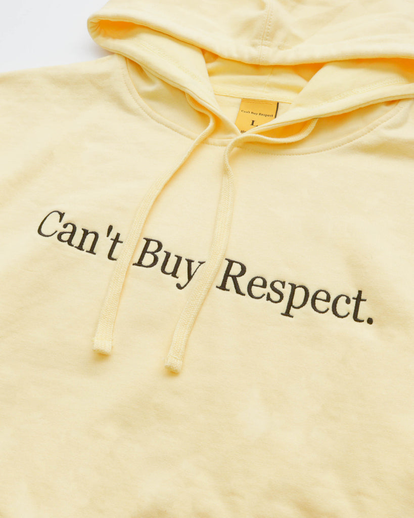 Can't Buy Respect Signature Hoodie Lightweight (Yellow)