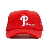 Passion Trucker Snapback Cap (Red)