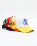 Can't Buy Respect Trucker Snapback Hat (White/Yellow)