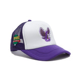 Eagles Trucker Snapback (Purple)