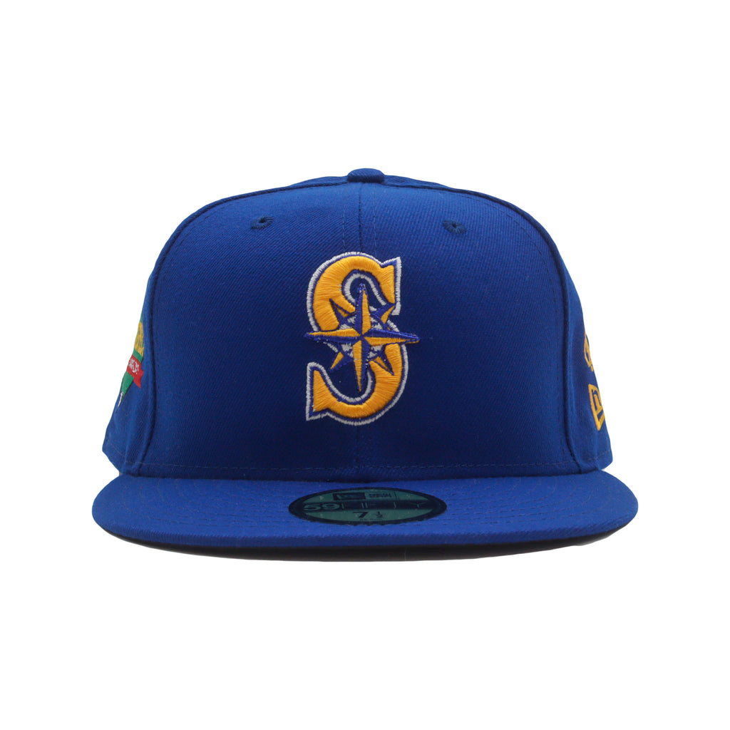Mariners NEW ERA 59/50 Fitted Cap (Blue/Gold)
