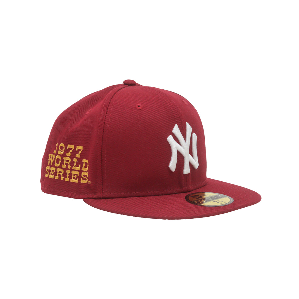 Mr October New Era 59/50 Fitted Hat (Wine/Gold)