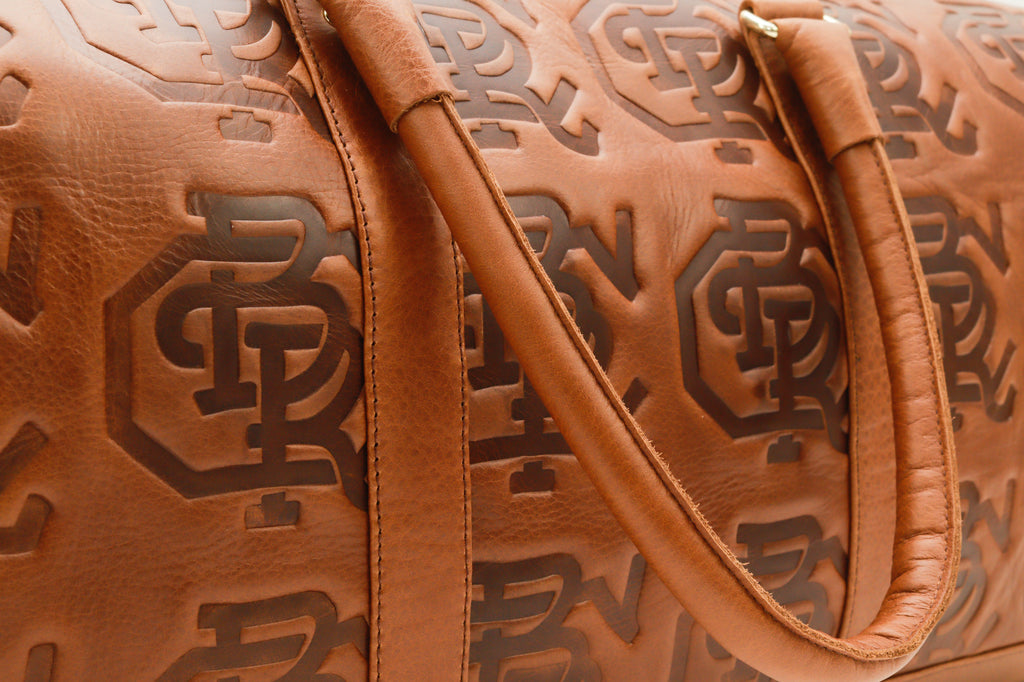 CBR Leather Duffle Bag (Brown)