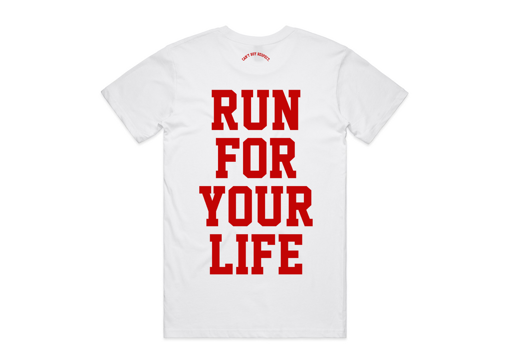 Run For Your Life Tee (White)