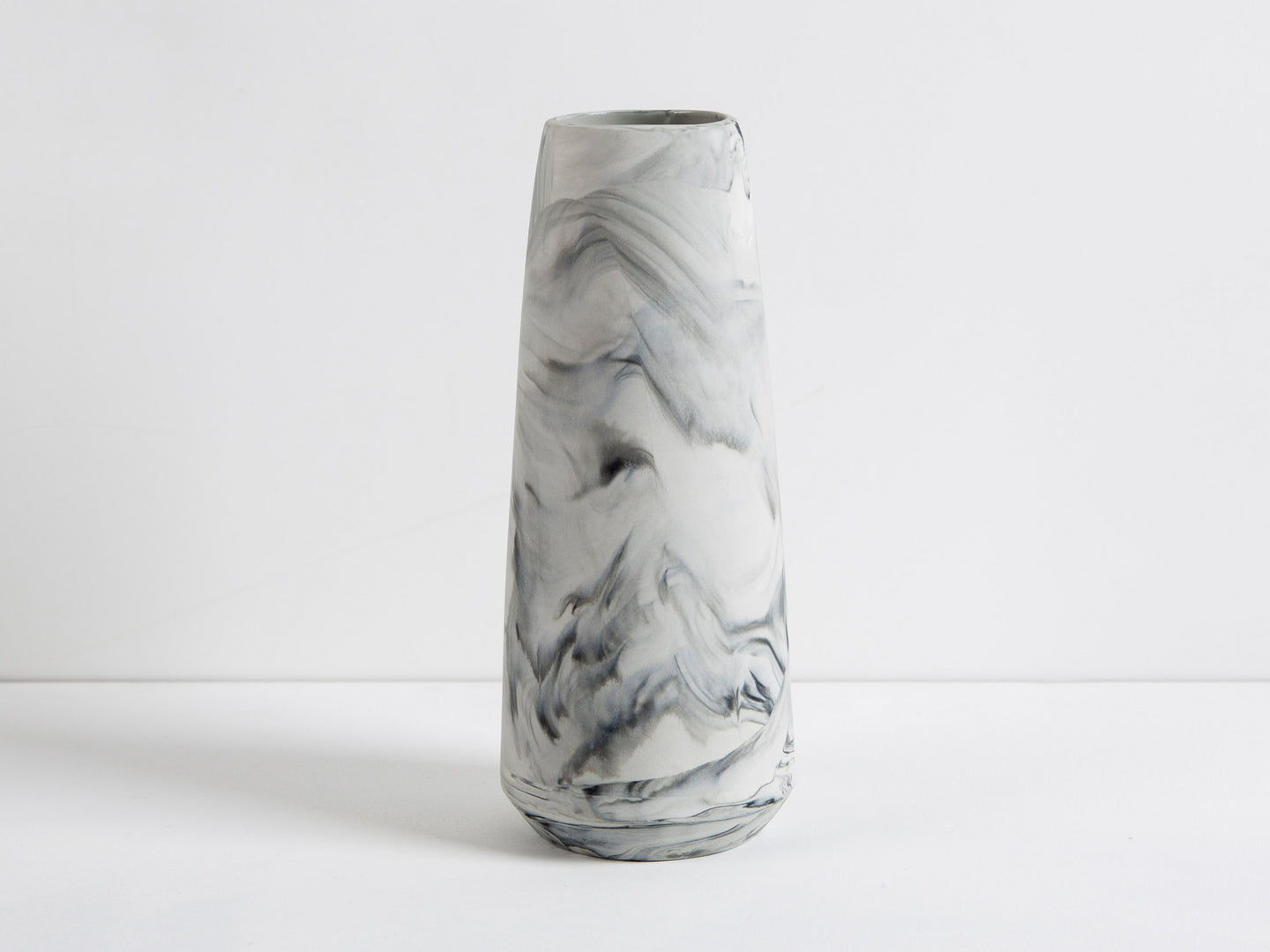 Marbled Pillar Vases