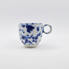 Load image into Gallery viewer, Blue Splatter Espresso Cup