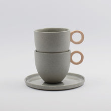 Load image into Gallery viewer, Matt Speckle Peach Espresso Cup
