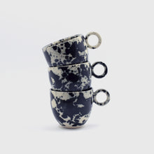 Load image into Gallery viewer, Black Splatter Espresso Cup