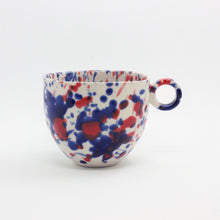 Load image into Gallery viewer, Blue and Red Splatter Mug