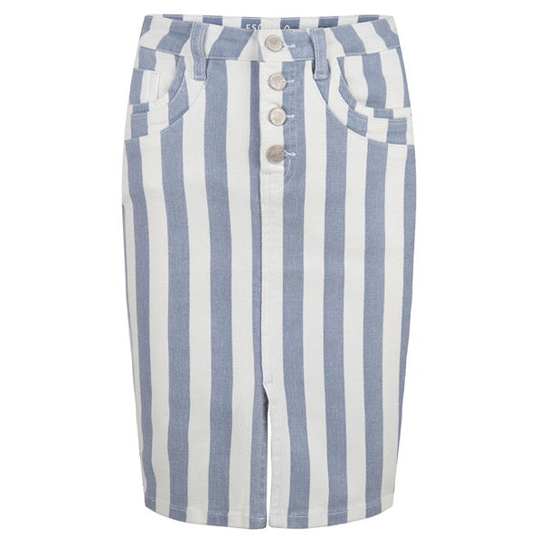 Esqualo Skirt Jeans Striped