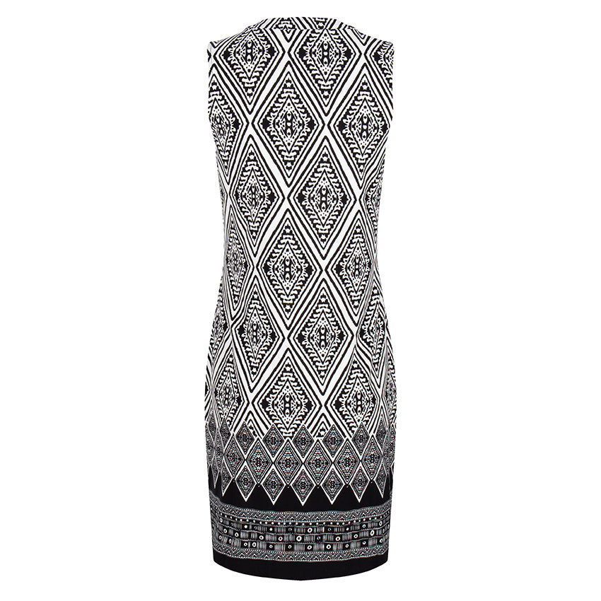 Esqualo Dress Ikat Print
