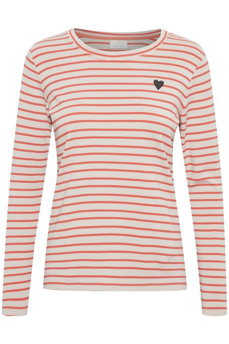 Kaffe Liddy T-Shirt grau/orange