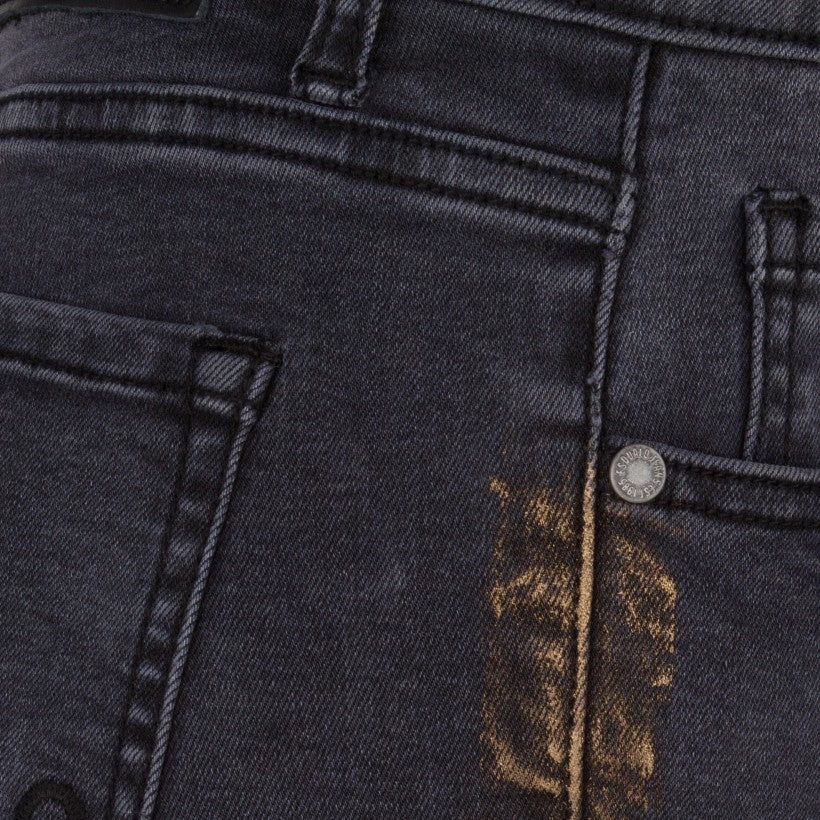 Metallic Paint Jeans