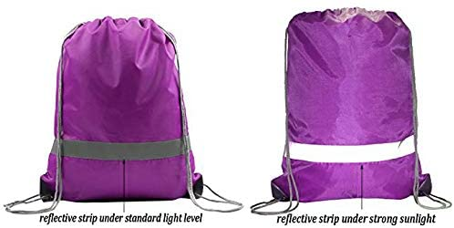 BeeGreen 20 Pack Drawstring Backpack Bags/Purple