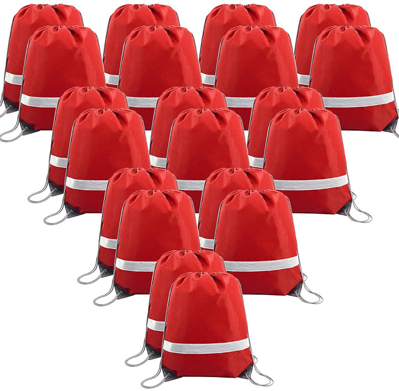 BeeGreen 20 Pack Drawstring Backpack Bags/red