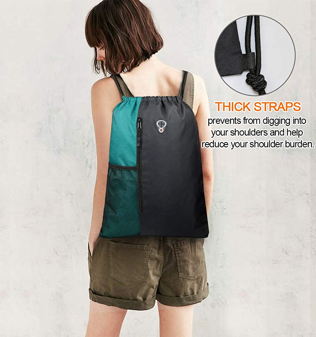 BeeGreen Drawstring sports backpack/Teal