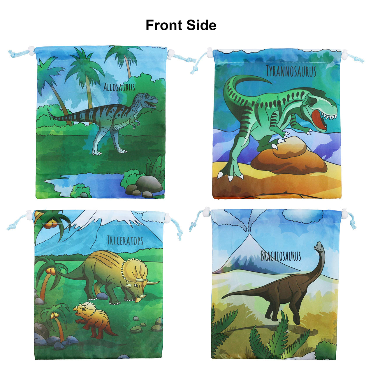 BeeGreen Dinosaur Party 12pcs Drawstring Gift Bag