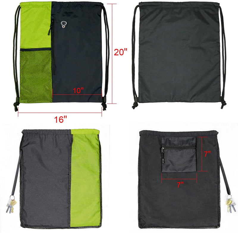 BeeGreen Drawstring sports backpack/Lime