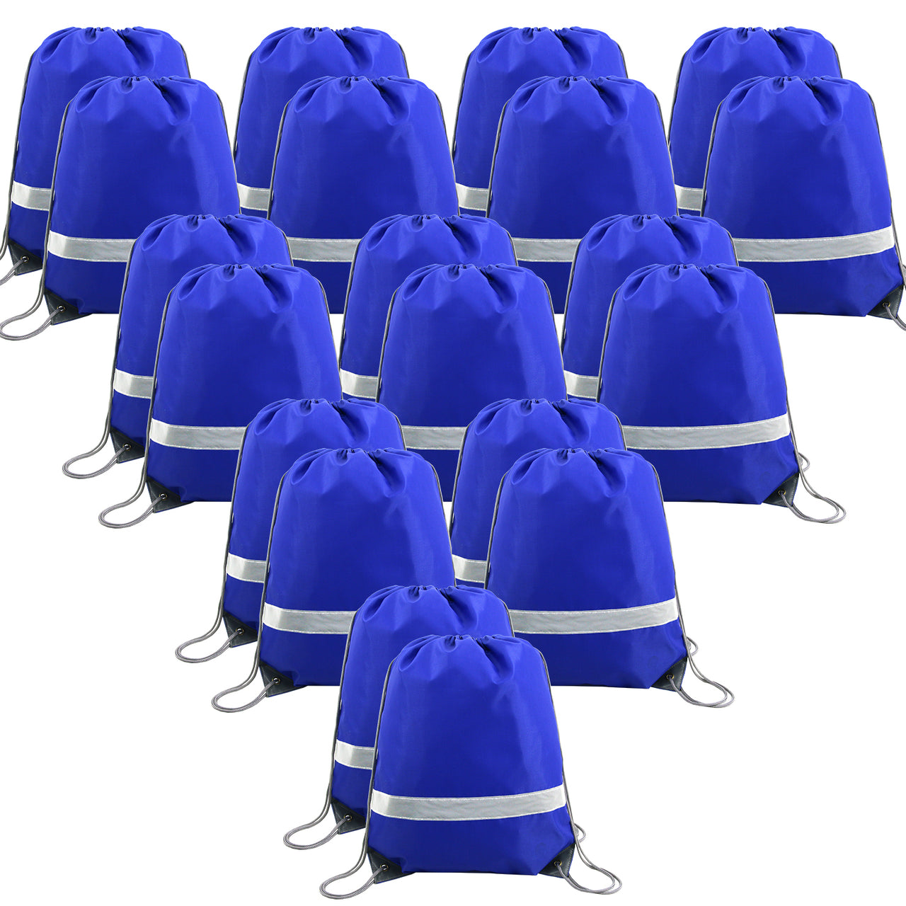 BeeGreen Reflective Drawstring Backpack Bags 20 Pack