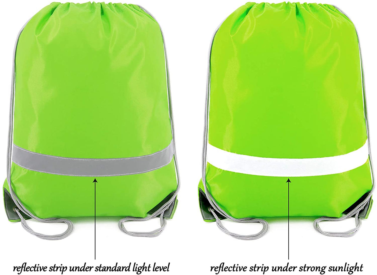BeeGreen 20 Pack Drawstring Backpack Bags/green