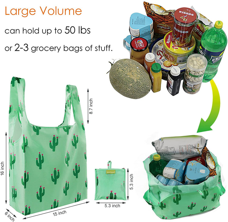 BeeGreen 5 Pack Reusable Grocery Bags/Crane