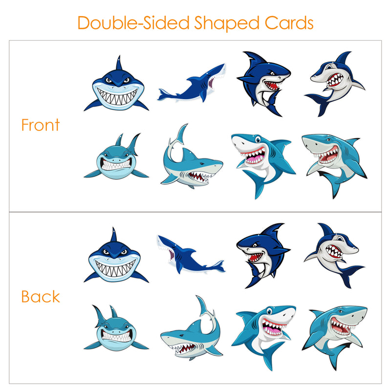BeeGreen 32 Pack Shark Birthday Decorations Party Supplies