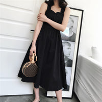 Crossover shoulder midi dress