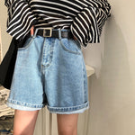 Boyfriend oversize denim shorts
