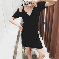 'Knot' cold-shoulder midi dress