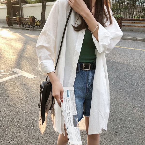Boyfriend style long shirt