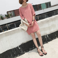 Cutout t-shirt dress