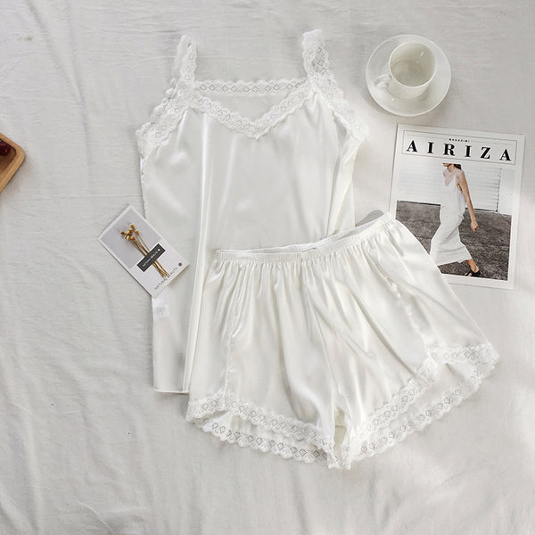 Lace trimmed pajama set