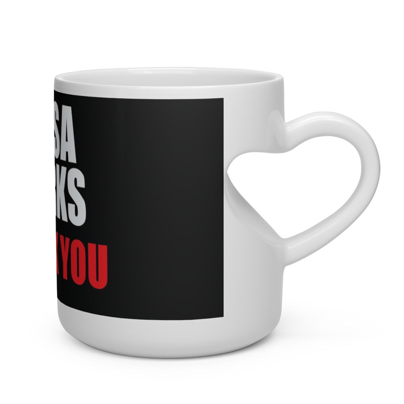 Homage Rosa Parks Heart Shape Coffee Mug