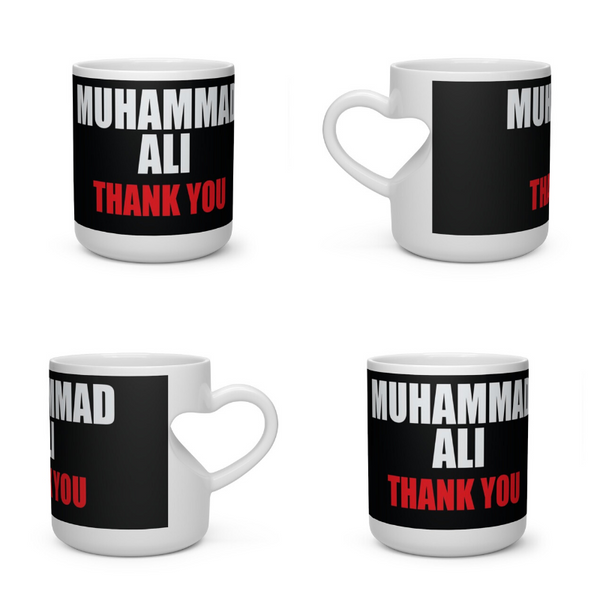 Homage to Muhammad Ali Heart Shape Mug