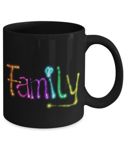 Family Coffee Mug - Black