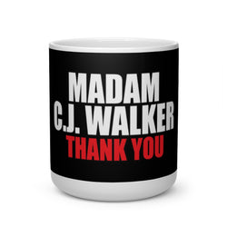 Homage to Madam C. J. Walker Heart Shape Coffee Mug