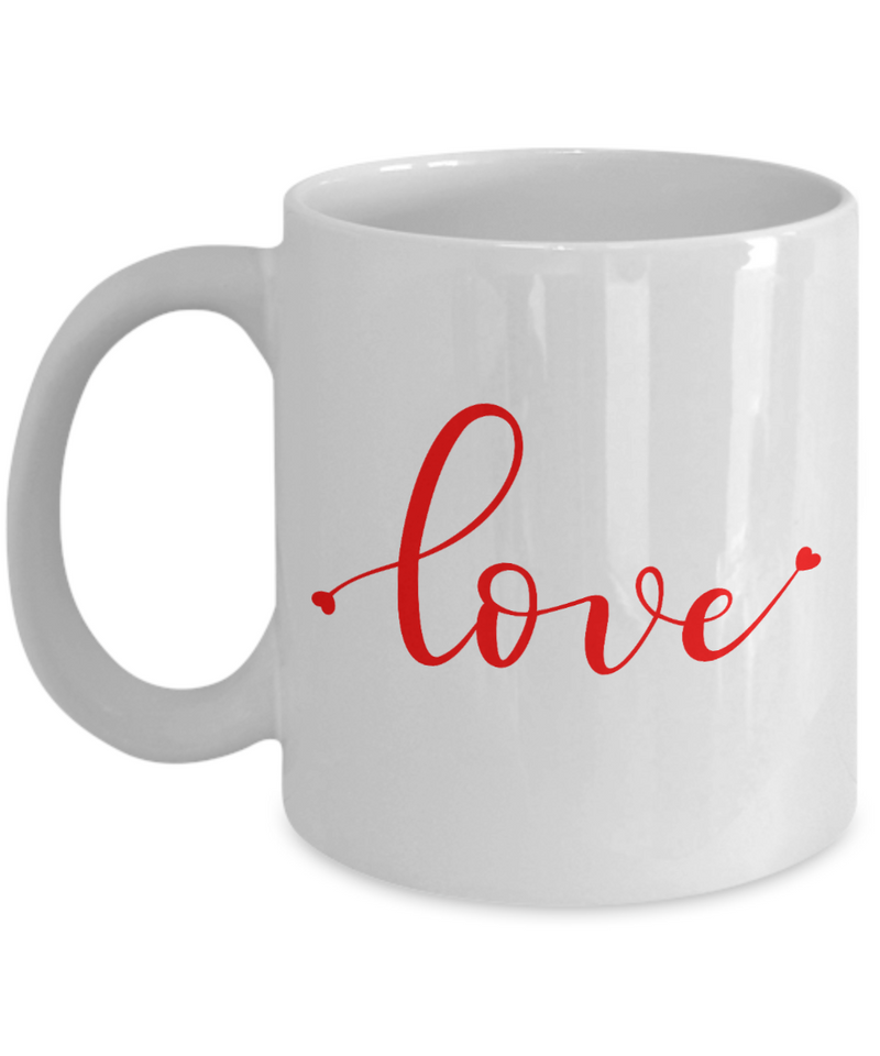 Love Coffee Mug, Coffee Lovers Mug