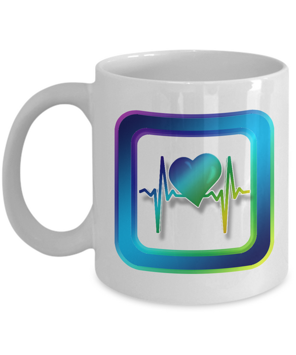 Registered Nurse Coffee Heart Health Coffee Mug