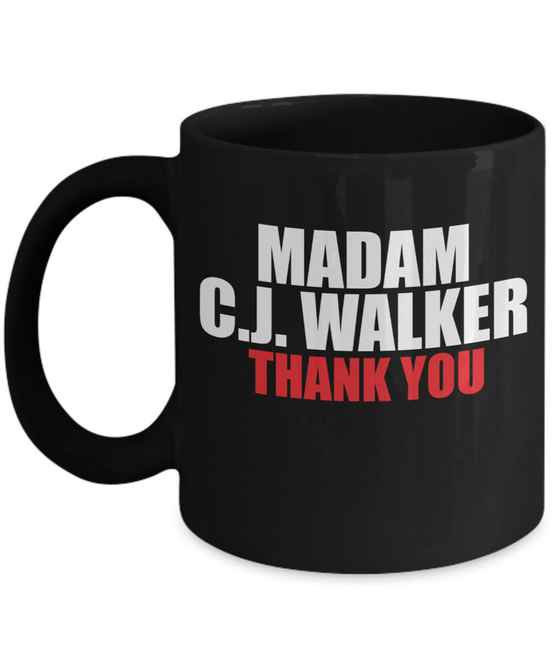 Homage to Madam C. J. Walker Black Coffee Mug