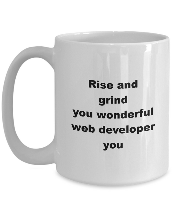 Wonderful Web Developer - White Mug