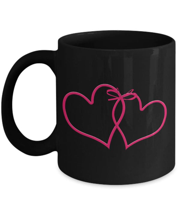 Heart Sign Coffee Mug , Black Coffee Cup