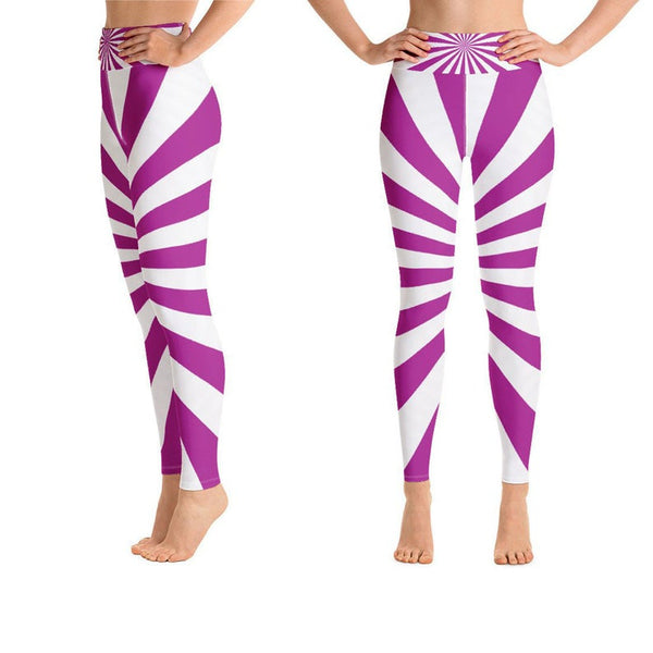 Purple Royal Purple Deep Purple Colorful Purple Purple And White Women Women's Yoga Pants, Workout Pants, Sports Leggings, Soft Gym Leggings