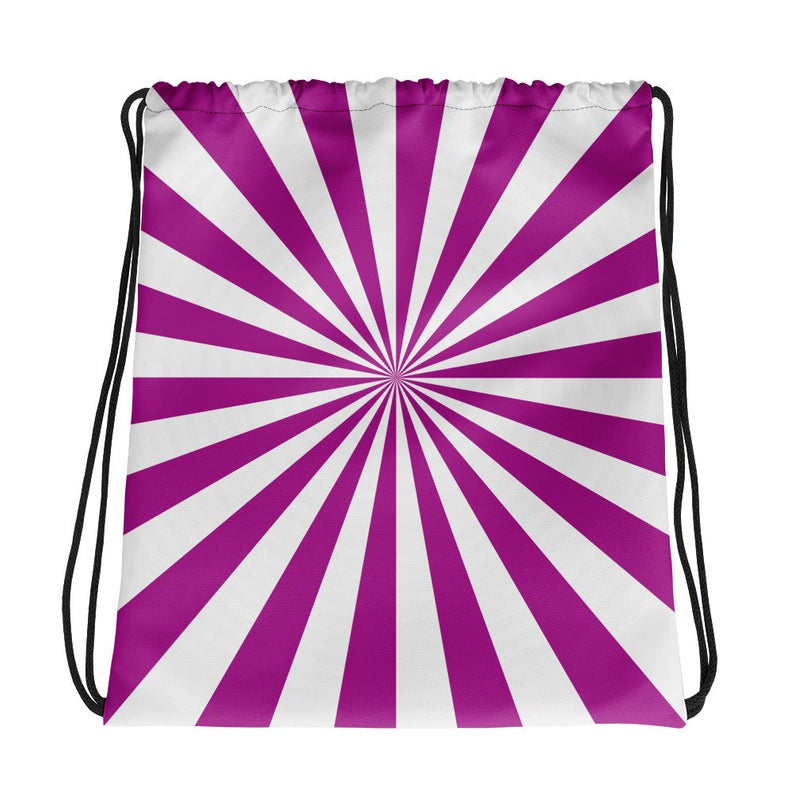 Purple And White Book Bag
