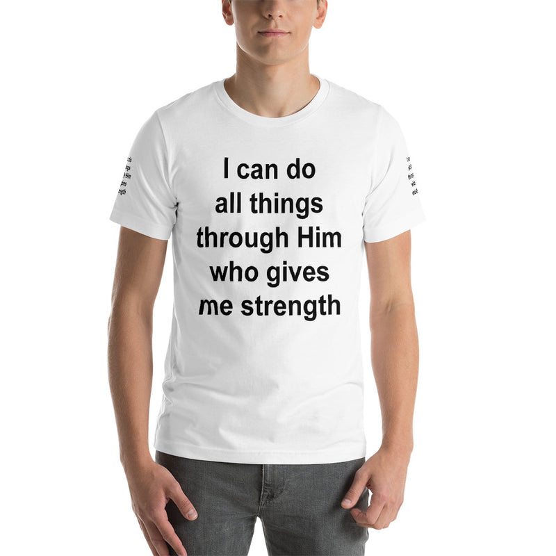 I Can Do All Things Through Him Who Gives Me Strength T Shirt, Religious Shirts for Women