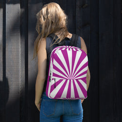 Water Resistant, Purple and White School Backpack, Fashion Unisex Backpack, Back to School Supplies, Gifts for Her