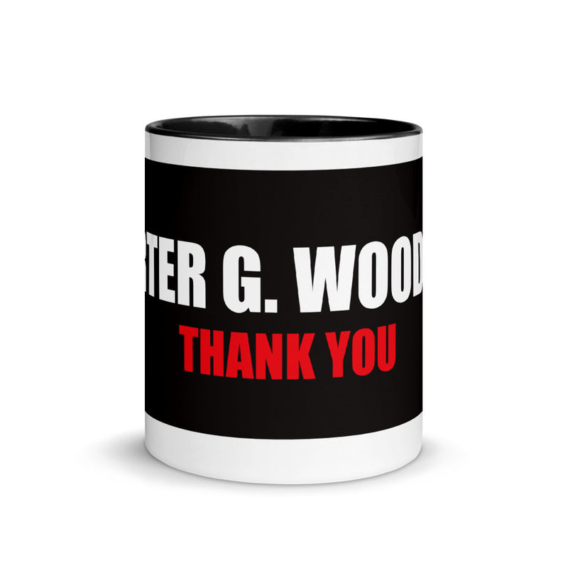 Homage to Carter Woodson Mug with Color Inside, Black History Month Coffee Cup