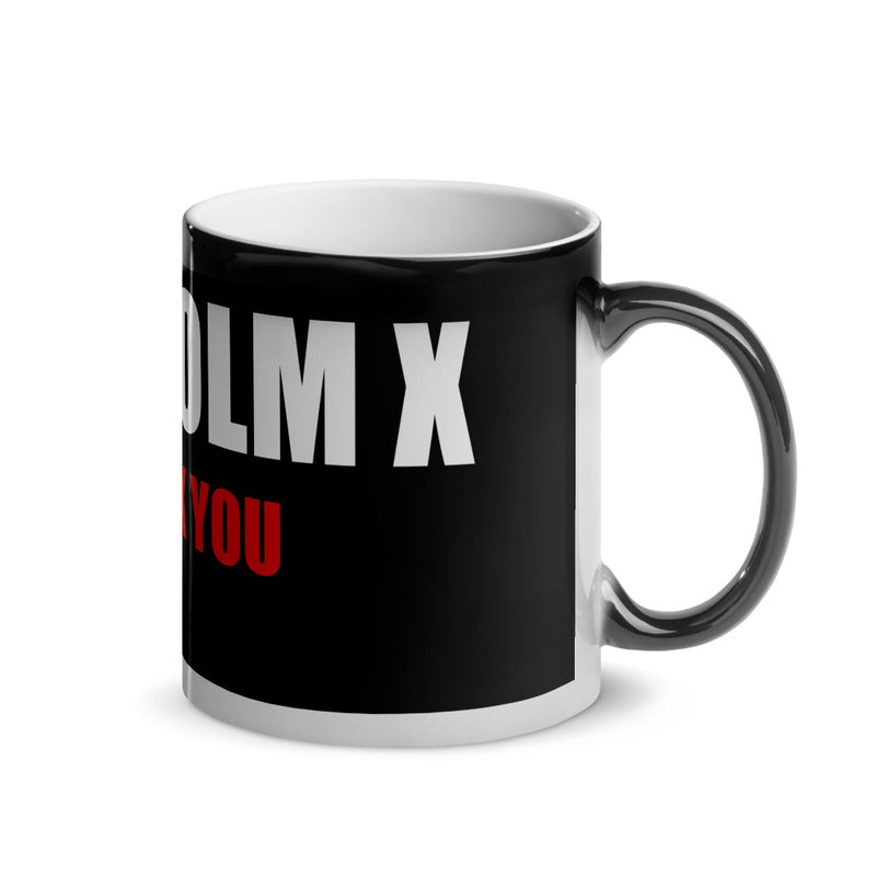 Homage to Malcolm X Glossy Magic Mug