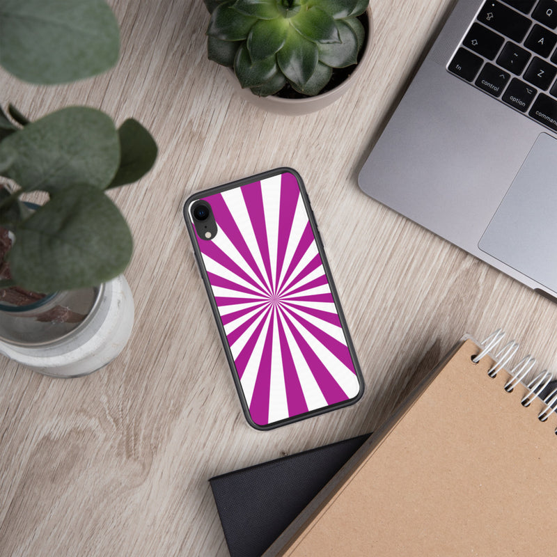 Purple iPhone Case, Purple White Covers for iPhone 6 / iPhone 6s - iPhone 7 - iPhone 8 - iPhone X / iPhone XR / iPhone XS and iPhone XS Max