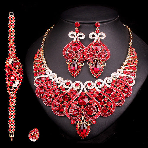 Luxurious Bridal Jewelry Wedding Sets For Women's